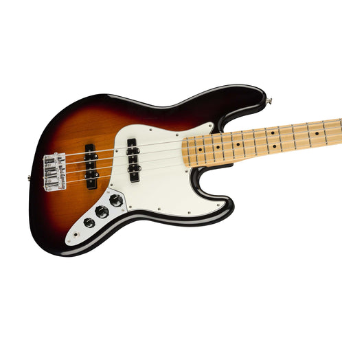 Fender Player Jazz Bass Guitar, Maple FB, 3-Tone Sunburst