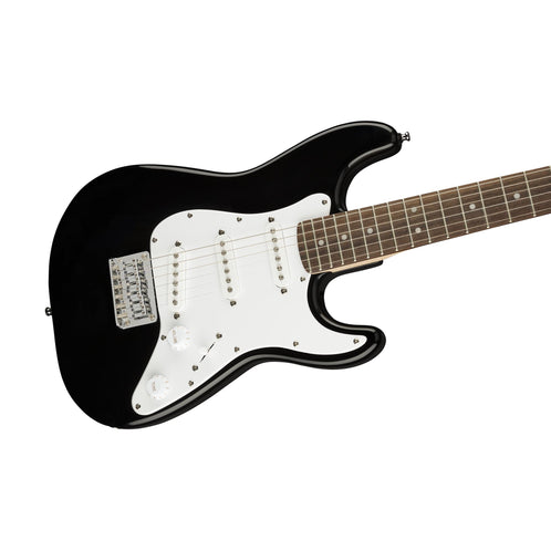 Squier Mini Stratocaster Electric Guitar, Laurel FB, Black