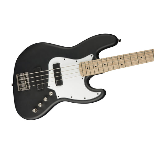 Squier Contemporary Active Jazz Bass HH Guitar, Maple FB, Flat Black