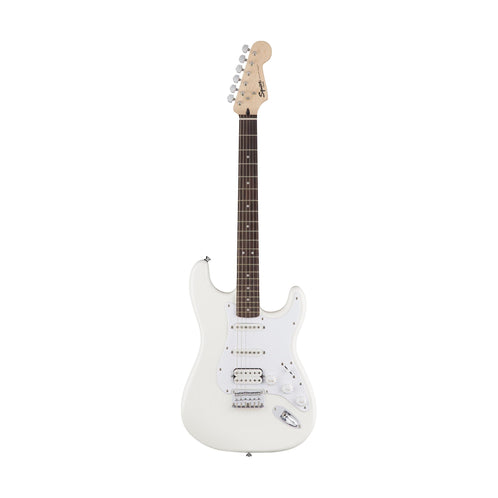 Squier Bullet Stratocaster HSS Hardtail Electric Guitar, Laurel FB, Arctic White