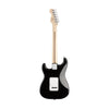 Squier Stratocaster Electric Guitar Pack w/Gig Bag & Frontman 10G Amp, Black, 230V UK