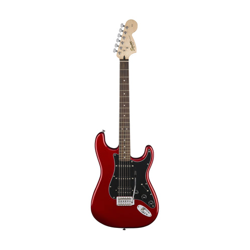 Squier Affinity Series HSS strat Guitar Pack w/Gig Bag & Frontman 15G Amp, Candy Apple Red, 230V UK