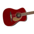 Fender California Malibu Player Small-Bodied Acoustic Guitar, Candy Apple Red