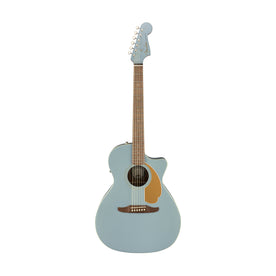 Fender California Newporter Player Medium-Sized Acoustic Guitar, Walnut FB, Ice Blue Satin