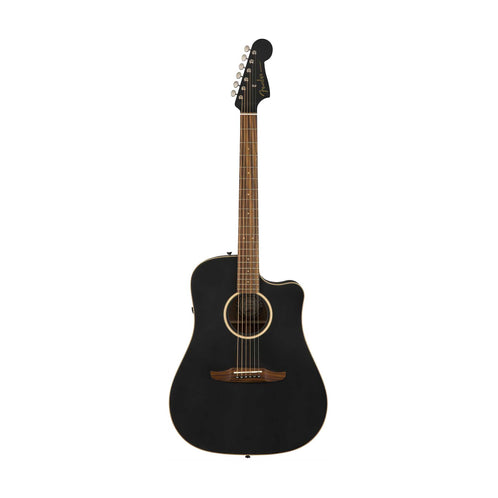 Fender California Redondo Special Slope-Shouldered Acoustic Guitar w/Bag, Matte Black