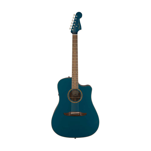 Fender Redondo Classic Slope-Shouldered Acoustic Guitar w/Bag, Cosmic Turquoise