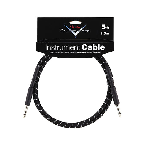 Fender Custom Shop Instrument Cable 5ft, Black Tweed