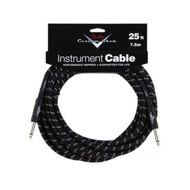 Fender Performance Series Custom Shop 25ft Instrument Cable, Black Tweed