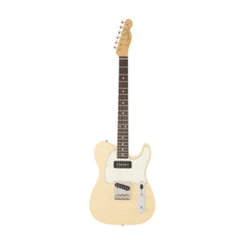 Fender Japan FSR Hybrid 60s Telecaster P90 Electric Guitar, Vintage White