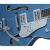 Gretsch G6136T-59-LPB Ltd Ed Falcon Electric Guitar w/Bigsby, Ebony FB, Lake Placid Blue