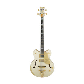 Gretsch G6136B-TP-AWT Petersson Signature Falcon 4-String Bass, Aged White Lacquer