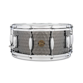 Gretsch S1-6514-BSH 6.5x14inch Hammered Black Steel Snare Drum