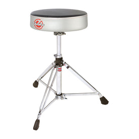 Gibraltar 6608RSG Double Braced Round Drum Throne, Grey Silver Finish