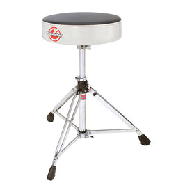 Gibraltar 6608RSW Double Braced Round Drum Throne, White Sparkle Finish