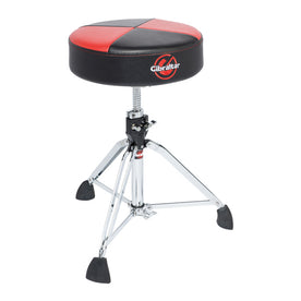 Gibraltar 9608RQPRB Professional Double Braced Drum Throne, Red Black Quarter Panel Seat