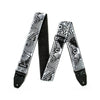 Jim Dunlop ILD02 I Love Dust Vortex Guitar Strap, Black/White