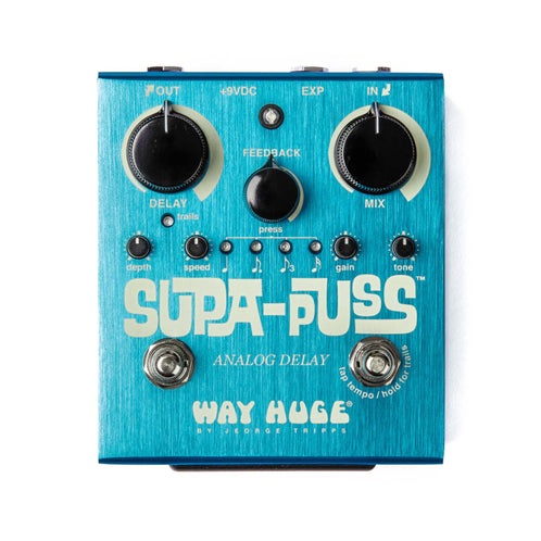 Way Huge WHE707 Supa Puss Analog Delay Guitar Effects Pedal