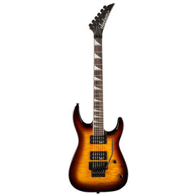 Jackson 32Q Dinky Quilted Maple Top Electric Guitar, RW FB, Transparent Amber