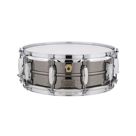 Ludwig LB416K 5x14inch Black Beauty Brass Snare Drum, Hammered Shell, Imperial Lugs