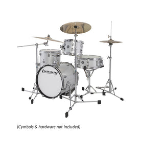 Ludwig LC179XX028DIR Breakbeats By Questlove 4-Piece Drum Kit w/ Bag, White Sparkle