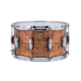 Ludwig LC608R 8x14inch Copper Phonic Snare Drum, Raw Shell