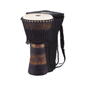 MEINL Percussion ADJ3-XL+BAG Earth Rhythm Series Original Style Rope Tuned Wood Djembe, 13inch