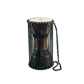 MEINL Percussion ATD-L 8x16inch African Wood Talking Drum, Brown/Black