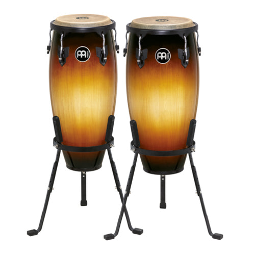 MEINL Percussion HC555VSB 10+11inch Headliner Series Conga Set w/Basket Stands, Vintage Sunburst