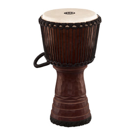 MEINL Percussion DJTC1-L 12inch Tongo Carved Djembe, Brown
