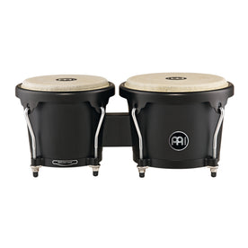 MEINL Percussion HB100PBK-M 6-3/4inch&8inch Headliner Series Wood Bongo, Phantom Black