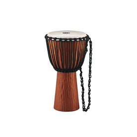 MEINL Percussion HDJ4-XL Rope Tuned Headliner Series Wood 13inch Djembe, Nile Series