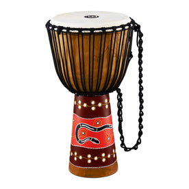 MEINL Percussion HDJ5-XL 13inch Rope Tuned Headliner Series Wood Djembe, Python Series