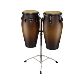 MEINL Percussion MCC-SET-ATB-M 11+11-3/4inch Marathon Classic Conga Set w/ Stand, Antique Tobacco Bu