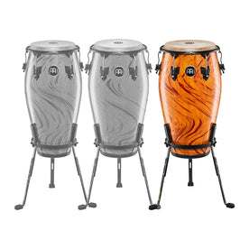 MEINL Percussion MCC1212AF 12-1/2inch Marathon Designer Tumba w/Steely II Conga Stand, Amber Flame