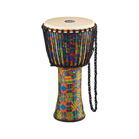 MEINL Percussion PADJ2-L-G 12inch Rope Tuned Travel Series Djembe, Goat Head, Kenyan Quilt