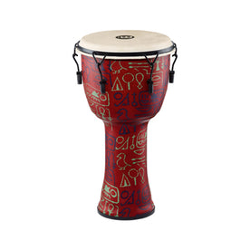MEINL Percussion PMDJ1-L-G 12inch Mechanical Tuned Travel Series Djembe, Goat Head, Pharaoh's Script