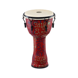 MEINL Percussion PMDJ1-M-G 10inch Mechanical Tuned Travel Series Djembe, Goat Head, Pharaoh's Script