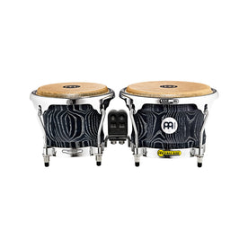MEINL Percussion WB400VBK-M 7+8-1/2inch Woodcraft Series Wood Bongo, Vintage Black