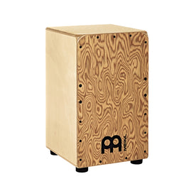 MEINL Percussion WCP100MB Woodcraft Professional Cajon, Makah-Burl Frontplate