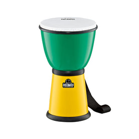 NINO Percussion NINO18G/Y 8inch ABS Djembe, Green/Yellow