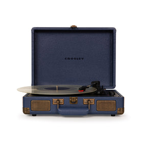 Crosley Cruiser Deluxe Portable Turntable, Navy
