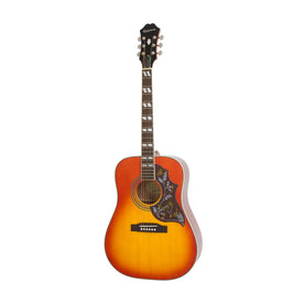Epiphone Hummingbird Pro Acoustic/Electric Guitar, Faded Cherry Burst