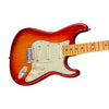 Fender American Ultra Stratocaster Electric Guitar, Maple FB, Plasma Red Burst