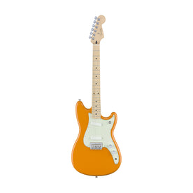 Fender Duo-Sonic Electric Guitar, Maple FB, Capri Orange