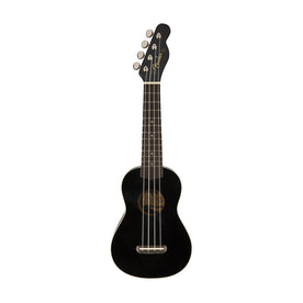 Fender Venice Soprano Ukulele, Walnut FB, Black (B-Stock)