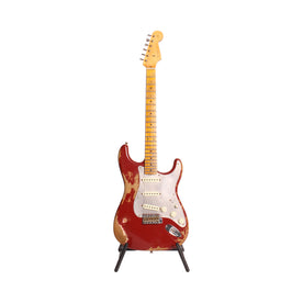 Fender Custom Shop Ltd Ed El Diablo Heavy Relic Stratocaster Electric Guitar, Crimson Red