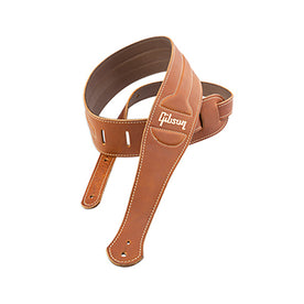 Gibson ASCL-BRN The Classic Guitar Strap, Brown Leather with Suede Back