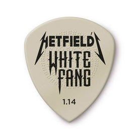 Jim Dunlop PH122P1.14 Hetfield's White Fang Custom Flow Guitar Pick, 6-Pick Players Pack