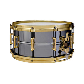 Ludwig LB417BT 6.5x14inch Black Beauty Brass Snare Drum, Tube Lugs
