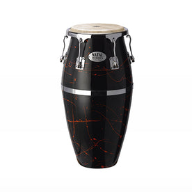 Natal NCSFC-BR Classic Series Splatter Finish 11inch and 12inch Congas, Black with Red